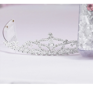 Rhinestone Drop Wedding Tiara For Bride