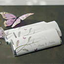 Romantic Butterfly Personalized Chocolate Wedding Favors