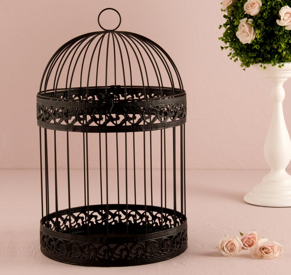 Birdcage Card Holder – Round Wedding Card Box