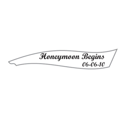 Sailboat Personalized Wedding Favor Sticker in White