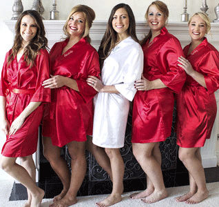 d08afac5df Satin Bridesmaid Robe - Personalized
