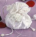 Satin White Rose Bride