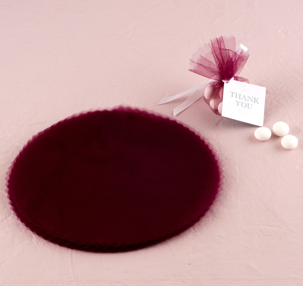 Scalloped Tulle Circles Favor Bags