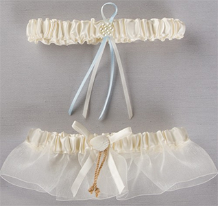 Seashore Seashell Beach Wedding Bridal Garter and Tossing Garter Set