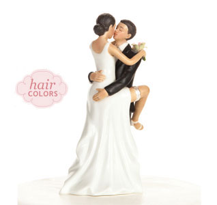 Sexy Bride Groom Cake Topper