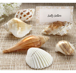 Beach Wedding Shells by the Sea Shell Wedding Placecard Holders