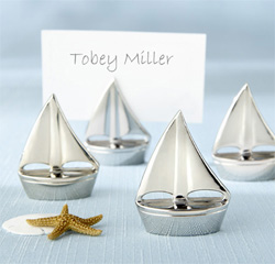 Shining Sails Silver Wedding Place Card Holders/ Table Number Holders/ Photo/ Picture Holder