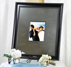 Wedding Signature Frame with Engraved Mat