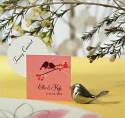Silver Bird Card Holder