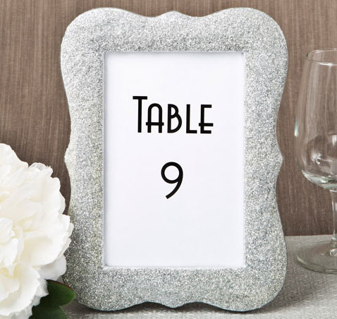 Silver Bling Table Number Holder Frame Table Number Frames