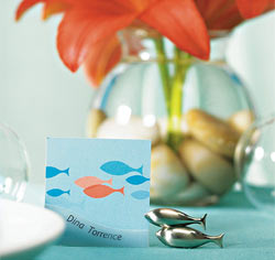 Silver Fish Card Holder