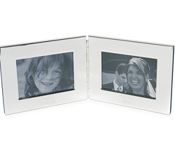 Personalized Silver Plated Double Picture/ Photo Frame