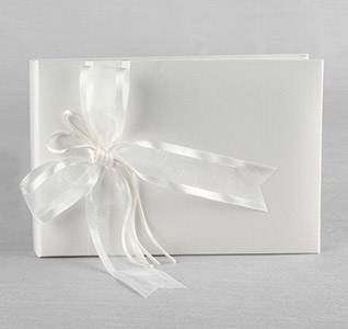 Simplicity White or Ivory Wedding Guest Book