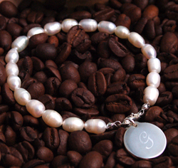 Personalized Initial Simplicity Pearl Bracelet Gift