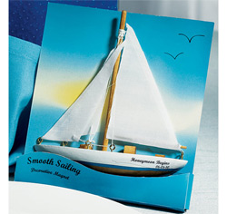 Smooth Sailing Sailboat Magnet Personalized Wedding Gifts/Favors