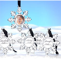 Snowflake Picture/Photo Winter Wedding Place Card Holder Ornament Wedding or Party Favor