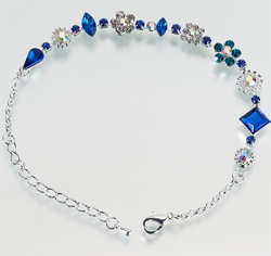 Blue Bridal Anklet