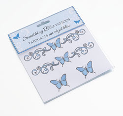 Something Blue Temporary Wedding Tattoos