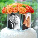 Personalized Photo Vase Cake Topper
