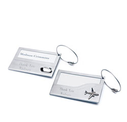Cruise Ship/ Airplane Personalized Silver Stainless Iron Luggage Tags Set