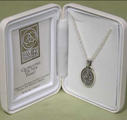 Sterling Silver Family Medallion Pendant - Dark Finish