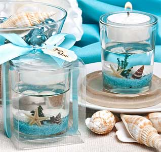 Beach wedding theme beach wedding accessories beach wedding beach candle favor junglespirit Image collections