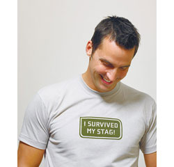 Survived My Stag Wedding T-Shirt Iron On for Groom