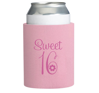 Sweet 16 Pink Can or Cup Cozy