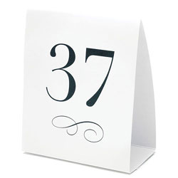 Black and White Wedding or Party Table Numbers Tent Style Place Cards