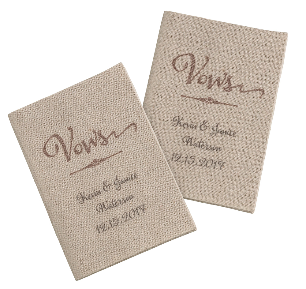 Personalized tan wedding vow books vow books tan wedding vow books personalized junglespirit Images