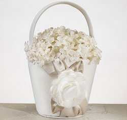 Taupe Rose Flower Basket