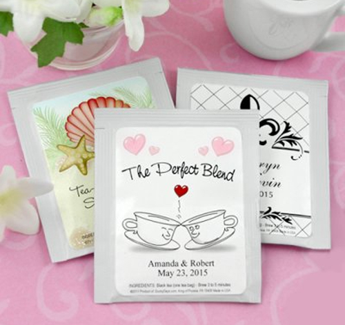Personalized Tea Bag Wedding Favors | Tea Wedding Favors