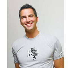 The Bride is Mine Wedding T-Shirt Iron On for Groom