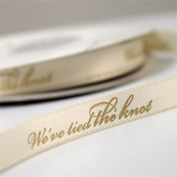 We Tied The Knot Ribbon