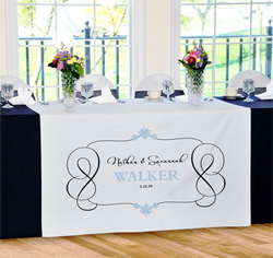 Personalied Timeless Wedding Table Runner