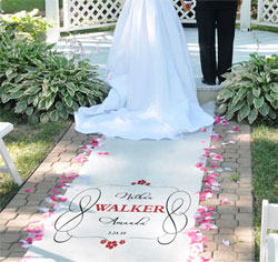 Personalized Timeless Wedding Aisle Runners
