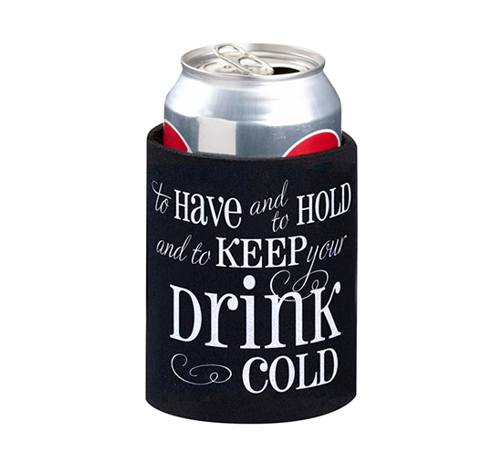 To Have And Hold Wedding Koozie