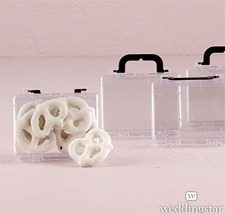 Miniature Travel Suitcase Personalized DIY Wedding Favor Container