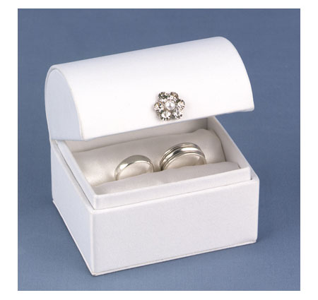 Treasure Chest Ring Box In White
