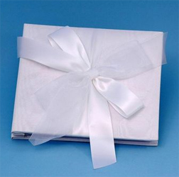 Tres Beau White or Ivory 8 Inch by 8 Inch Wedding Photo/Picture Album