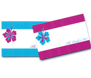 Purple and Blue Tropical Wedding Gift or Favor Tags