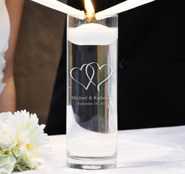 Two Hearts Unity Candle