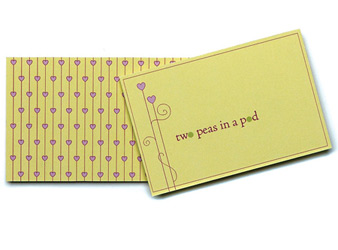 Two Peas in a Pod Wedding Gift or Favor Tags