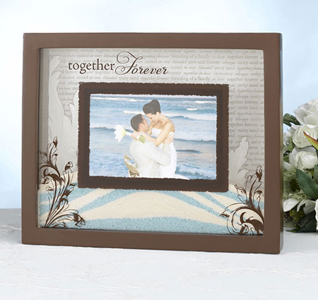 together forever unity sand picture frame