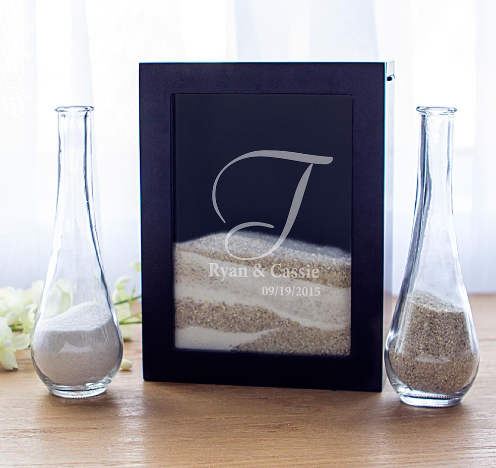 Unity Sand Ceremony Black Shadow Box Set | Sand Ceremony Frame