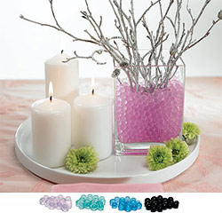 Decorative Vase Water Pearls for Wedding in Pink, Purple, Green, Blue, Black or Clear/White