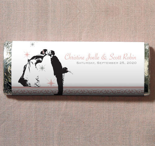 Vintage Hollywood Wedding Candy Bars | Personalized
