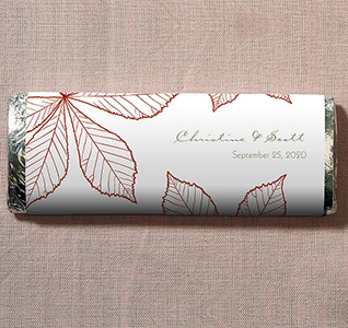 Autumn Leaf Wedding Candy Bars