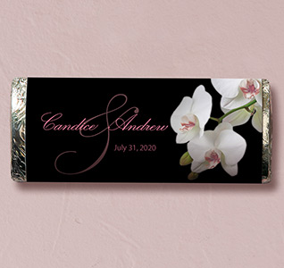 Clic Orchid Wedding Candy Bars