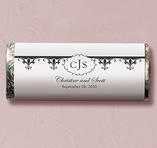 Fleur De Lis Wedding Candy Bars